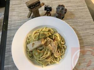 ペペロンチーノを作りました